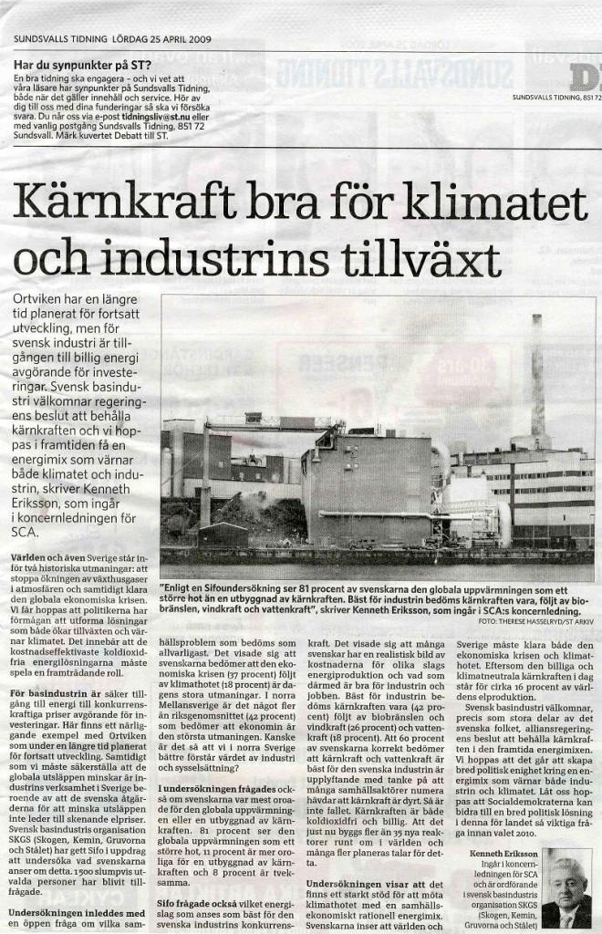 kenneth_eriksson__20090425__sundsvalls_tidning__k_rnkraft_bra_f_r_klimatet